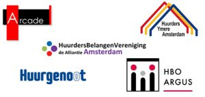 Logo's huurderverenigingen Amsterdam